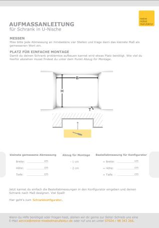 schrank in u nische nach ma aufbau vor der nische meine m belmanufaktur. Black Bedroom Furniture Sets. Home Design Ideas