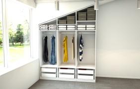 begehbarer kleiderschrank f r die schr ge meine. Black Bedroom Furniture Sets. Home Design Ideas