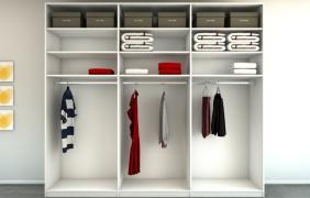 Begehbarer kleiderschrank kleiderstange  Einzelschrank mit Kleiderstangen | meine möbelmanufaktur