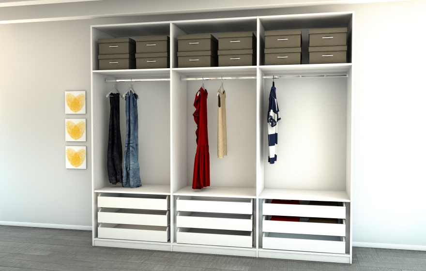 begehbarer kleiderschrank regalsystem begehbarer kleiderschrank individuell planen regalraum. Black Bedroom Furniture Sets. Home Design Ideas