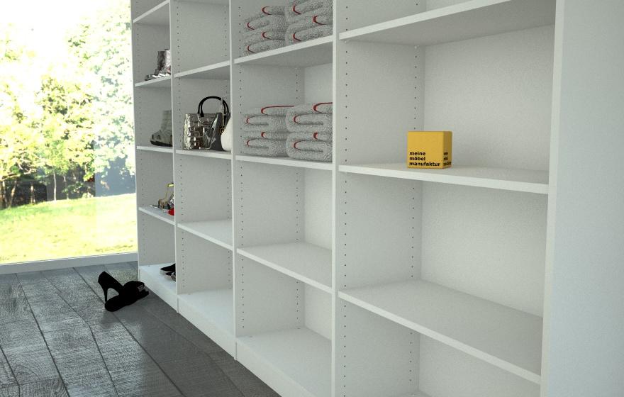 begehbares schranksystem meine m belmanufaktur. Black Bedroom Furniture Sets. Home Design Ideas