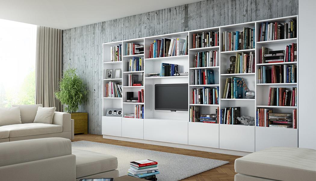 Bibliotheken nach mass planen wohnzimmer meine for Wohnzimmer planen