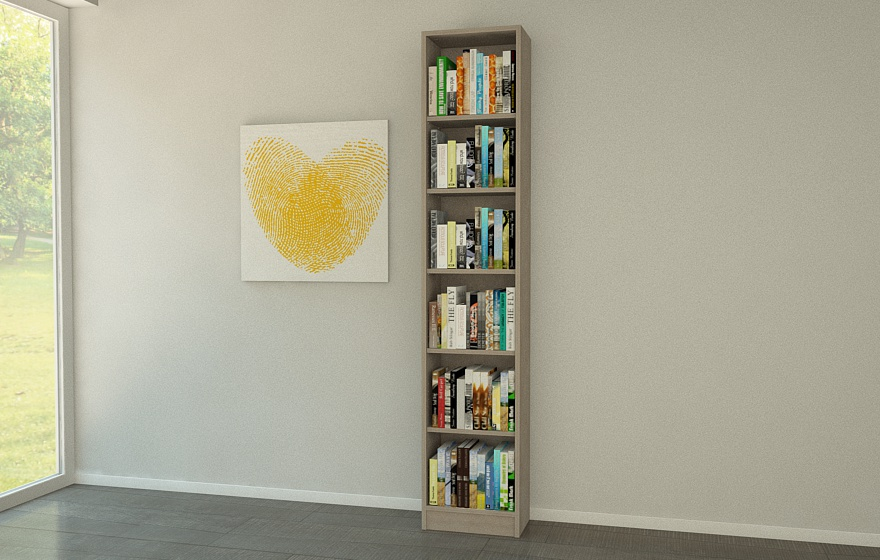 b cherregal in betonoptik meine m belmanufaktur. Black Bedroom Furniture Sets. Home Design Ideas