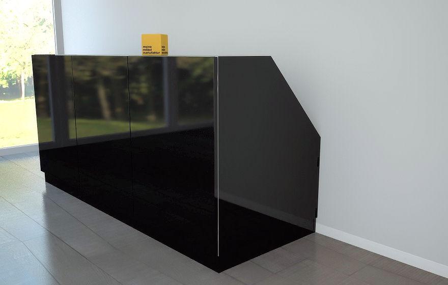 dachschr genschrank in hochglanz meine m belmanufaktur. Black Bedroom Furniture Sets. Home Design Ideas
