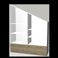 Einbauschrank Dachschrägenschrank 2-teilig
