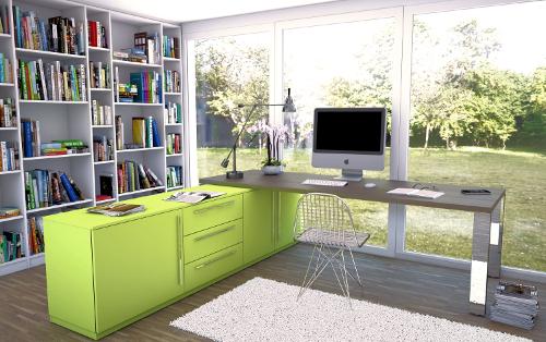 Grafikschrank nach Maß in Limonengrün
