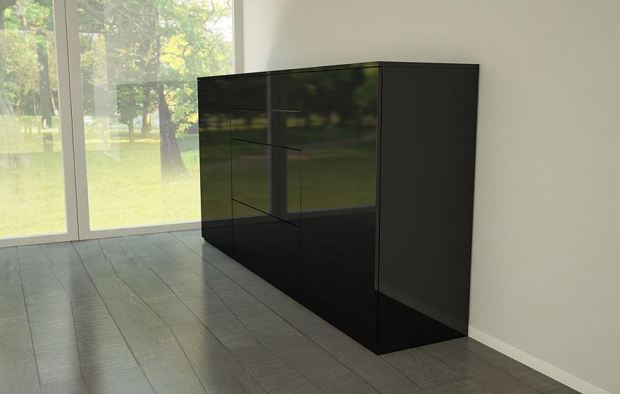 highboard in hochglanzoptik meine m belmanufaktur. Black Bedroom Furniture Sets. Home Design Ideas