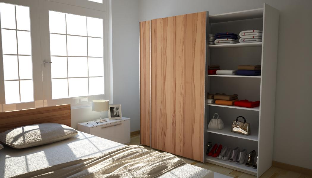 Kleiderschrank aus Echtholz Kernbuche | meine möbelmanufaktur