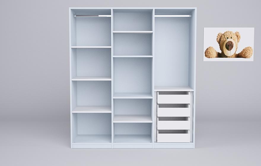 kleiderschrank in blau meine m belmanufaktur. Black Bedroom Furniture Sets. Home Design Ideas