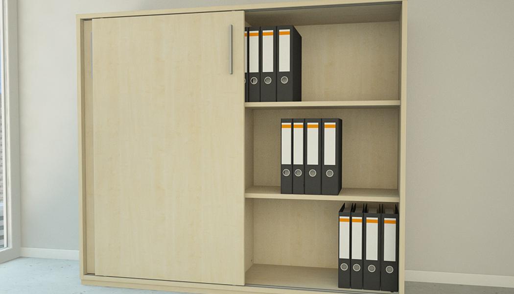 kommode mit schiebet ren in ahorn meine m belmanufaktur. Black Bedroom Furniture Sets. Home Design Ideas
