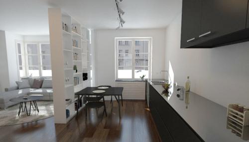 Küchenregal nach Maß als Raumteiler