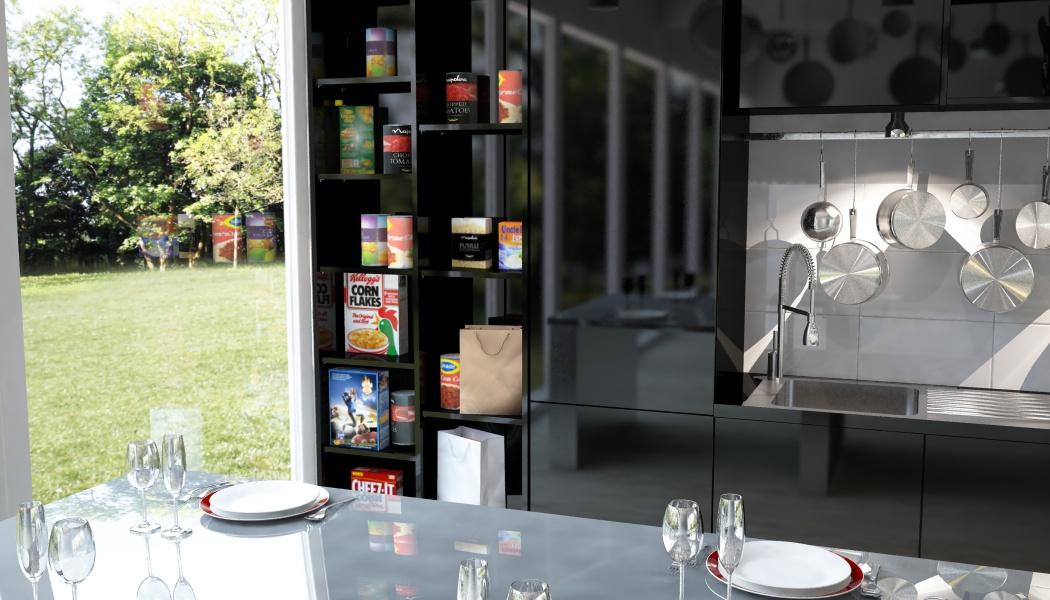 Küchenschrank nach Maß in Schwarz | meine möbelmanufaktur