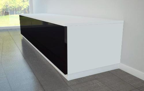 Lowboard nach Maß in Schwarz und Weiß