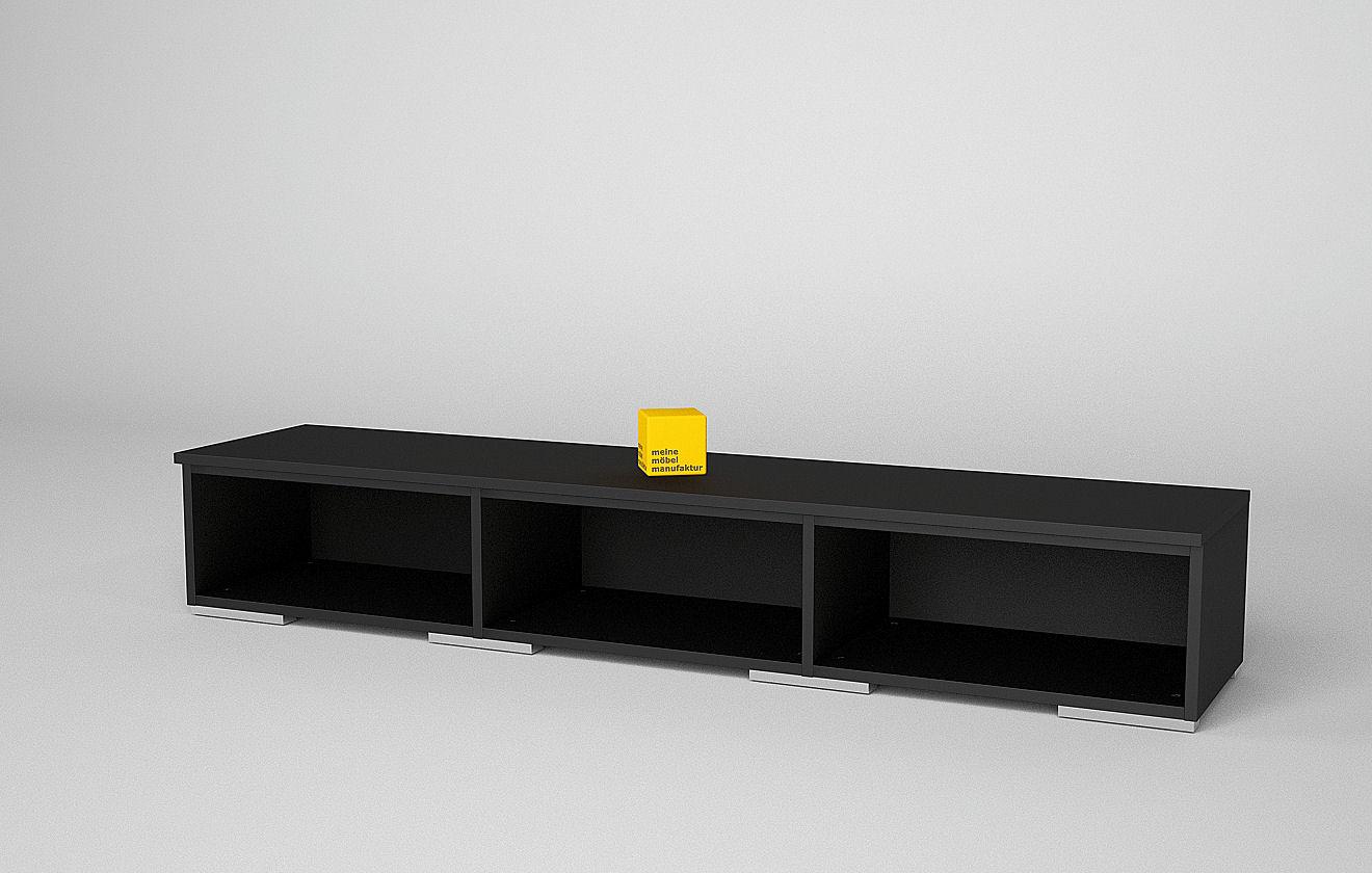 lowboard schwarz catlitterplus. Black Bedroom Furniture Sets. Home Design Ideas