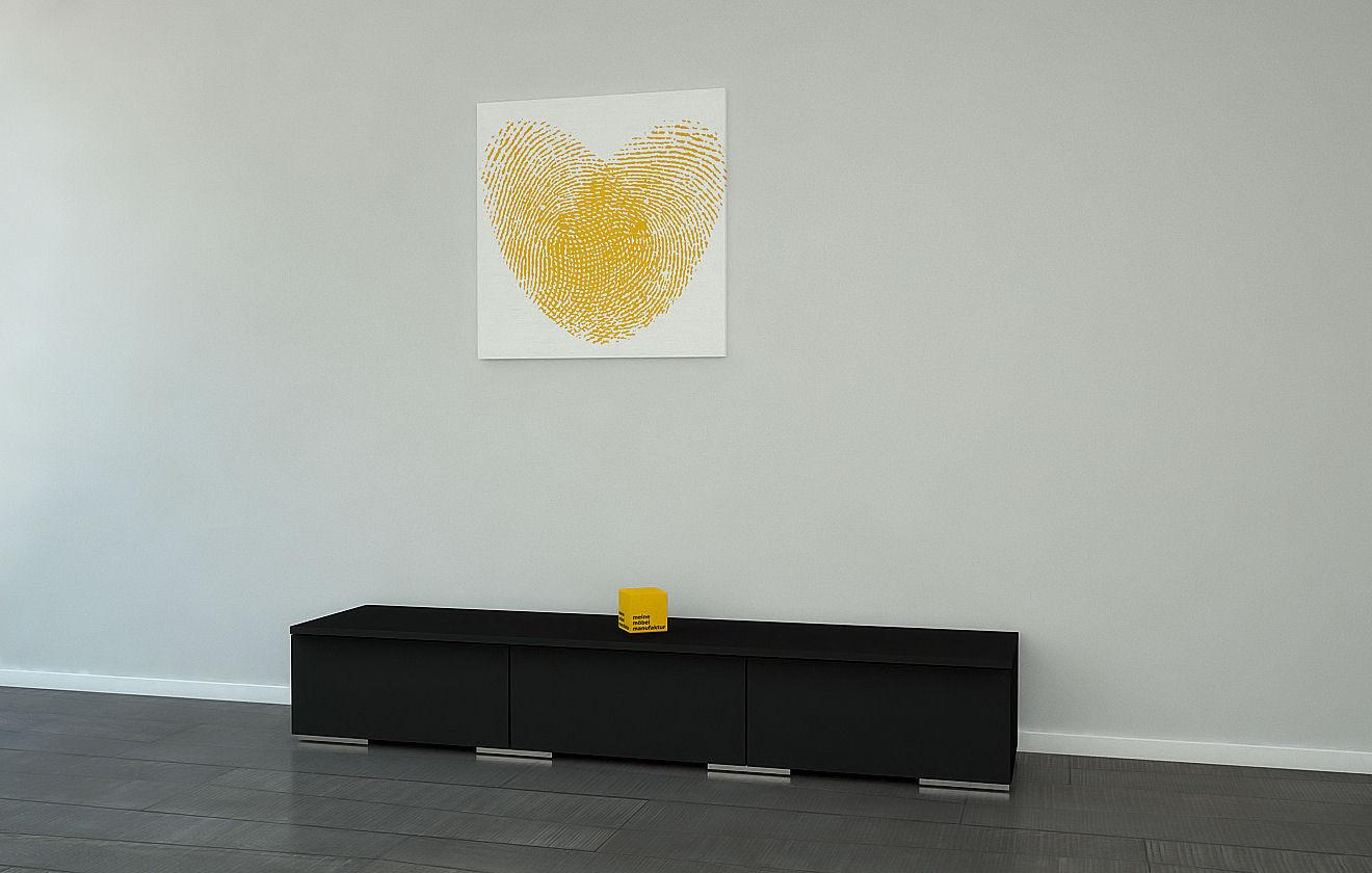 lowboard schwarz meine m belmanufaktur. Black Bedroom Furniture Sets. Home Design Ideas