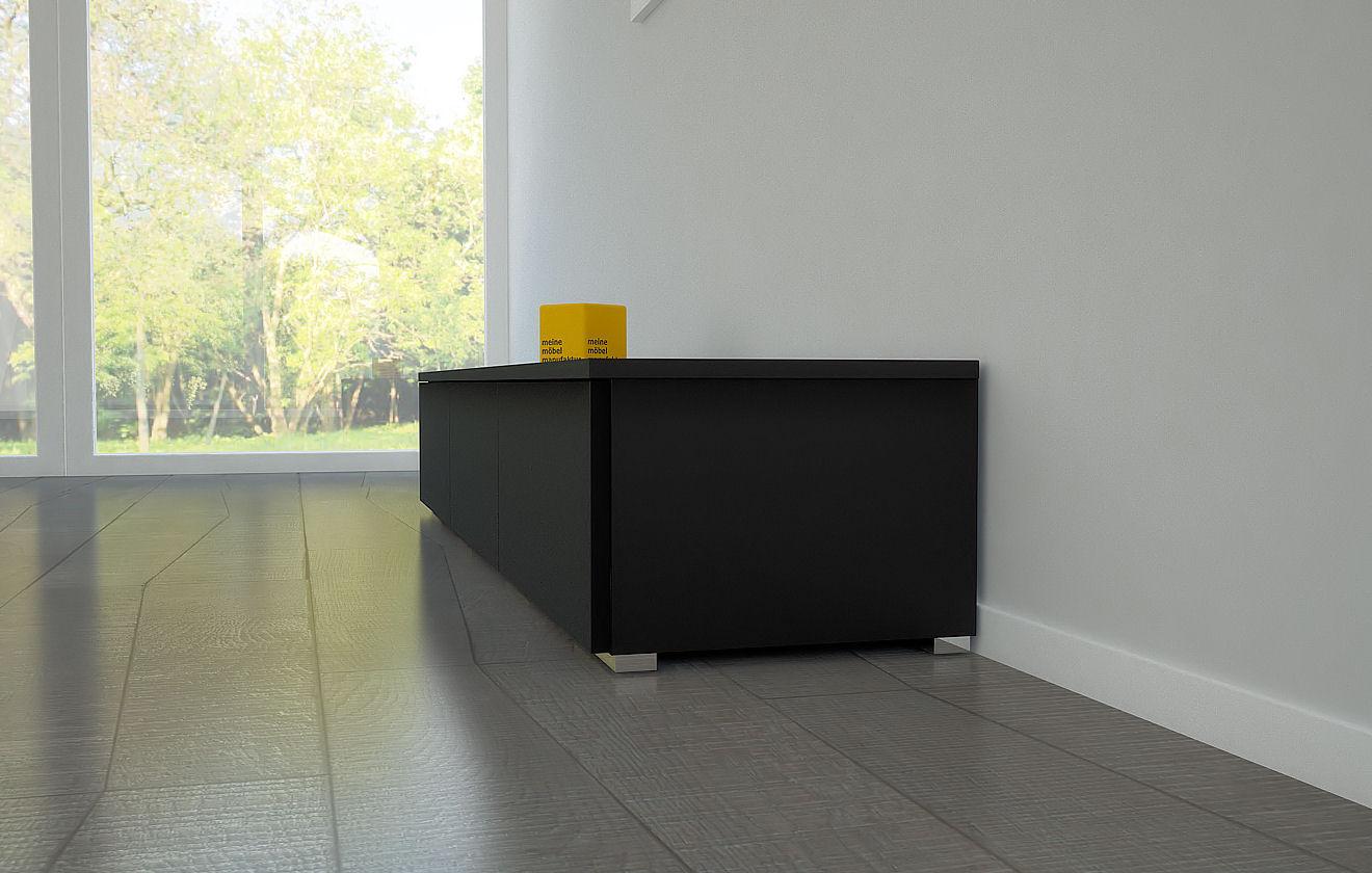 lowboard schwarz trendy tv board lowboard migo hngeschrank wohnwand cm schwarz matt schwarz. Black Bedroom Furniture Sets. Home Design Ideas