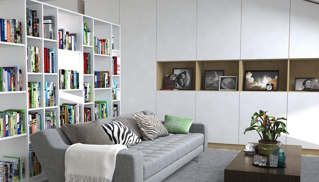 Wohnzimmer regalsystem good wohnwand bcherregal schn - Grunes wohnzimmer ...