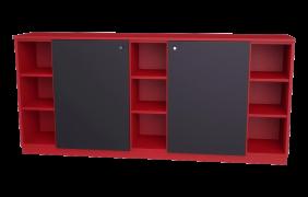 Schwarze Türen rotes sideboard mit schwarzen türen   meine möbelmanufaktur