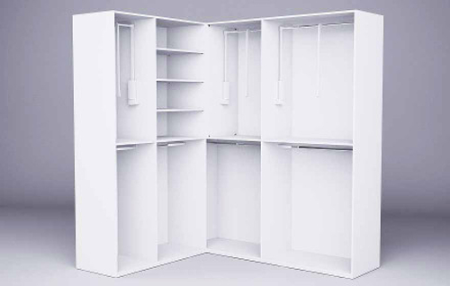 songmics neu generation eck kleiderschrank faltschrank 2 kleiderstangen stoffschrank 129 x 169 x. Black Bedroom Furniture Sets. Home Design Ideas