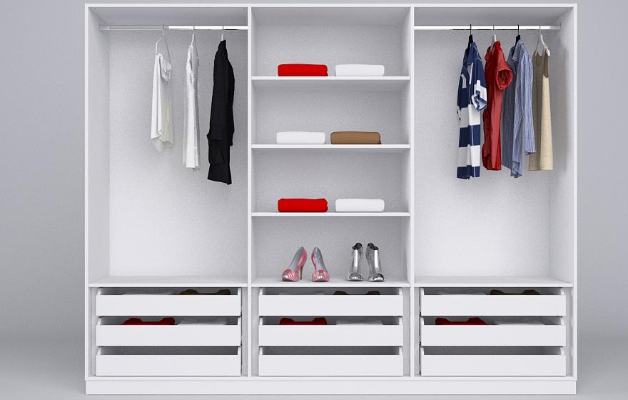 schrank mit vielen fchern solgul wei mit vielen fchern und spiegeltren wei im m von wand zu. Black Bedroom Furniture Sets. Home Design Ideas