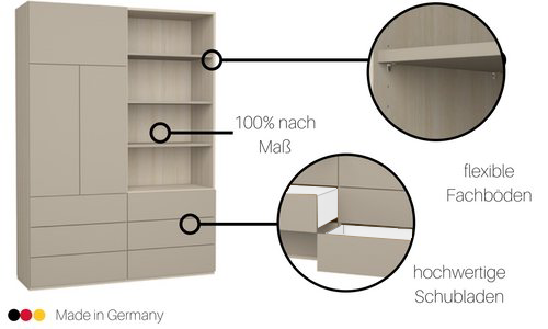 schrank in nische einbauen affordable offener begehbarer. Black Bedroom Furniture Sets. Home Design Ideas