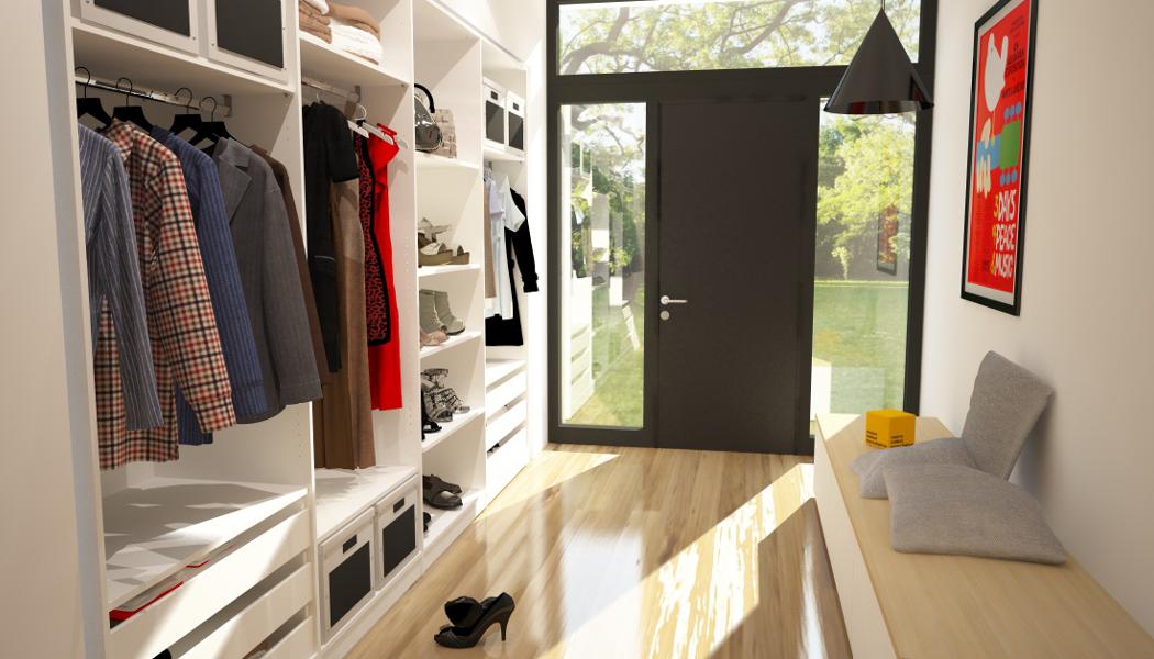 Schrankwand nach Maß als Garderobe | meine möbelmanufaktur
