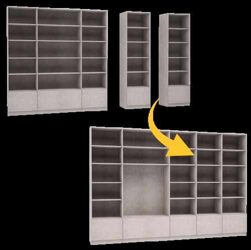 Schrankwandsystem flexibel