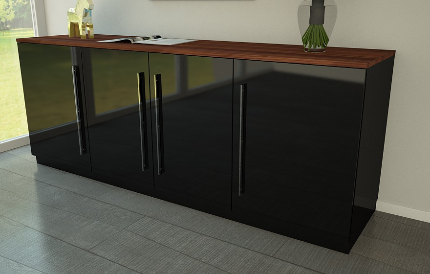 nussbaum schwarz latest amazing great sideboard nussbaum. Black Bedroom Furniture Sets. Home Design Ideas