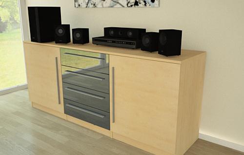 Sideboard aus Holz Hochglanz