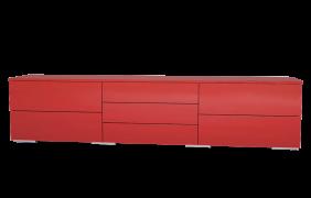 sideboard in hochglanz rot meine m belmanufaktur. Black Bedroom Furniture Sets. Home Design Ideas