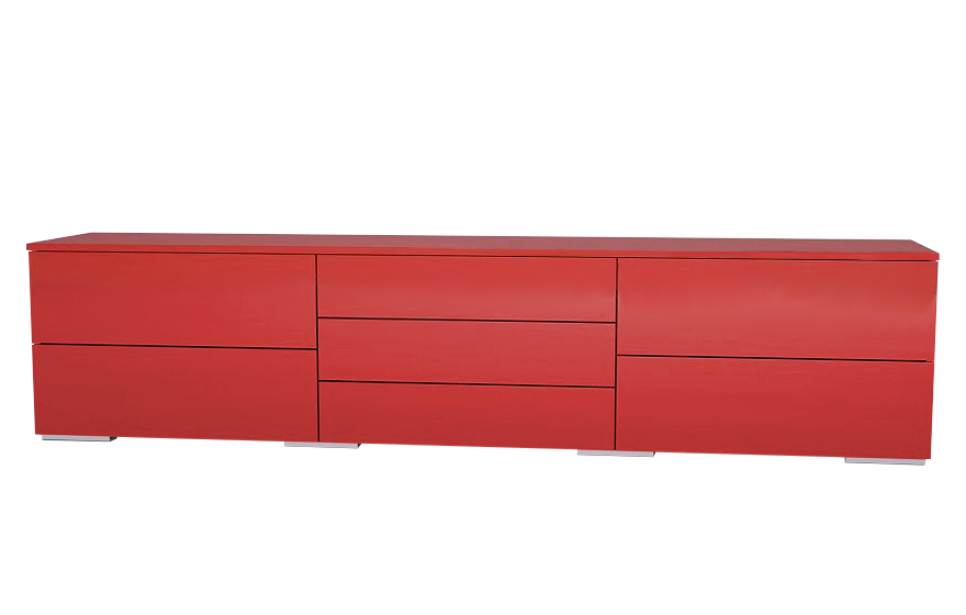 sideboard in hochglanz rot meine m belmanufaktur. Black Bedroom Furniture Sets. Home Design Ideas