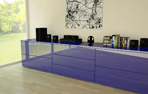 Sideboard Manufaktur Ultramarineblau