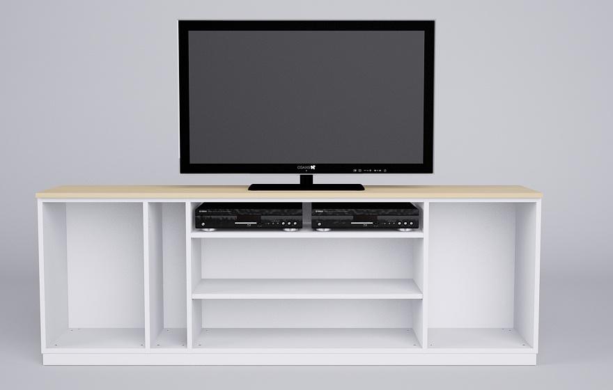 sideboard in wei mit eiche meine m belmanufaktur. Black Bedroom Furniture Sets. Home Design Ideas