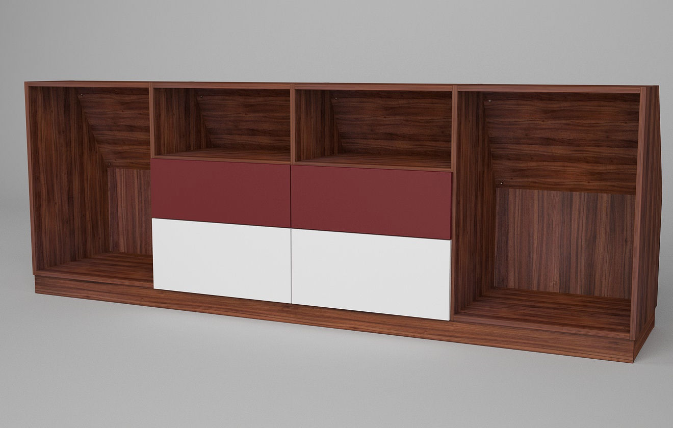 sideboard mit schr ge hinten meine m belmanufaktur. Black Bedroom Furniture Sets. Home Design Ideas
