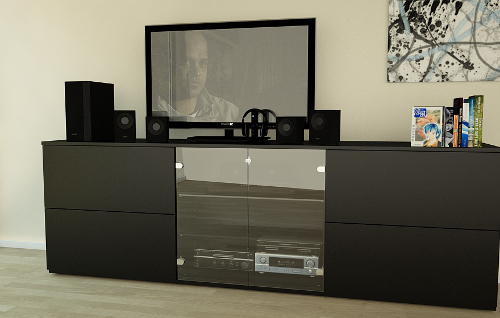 tv mobel als sideboard